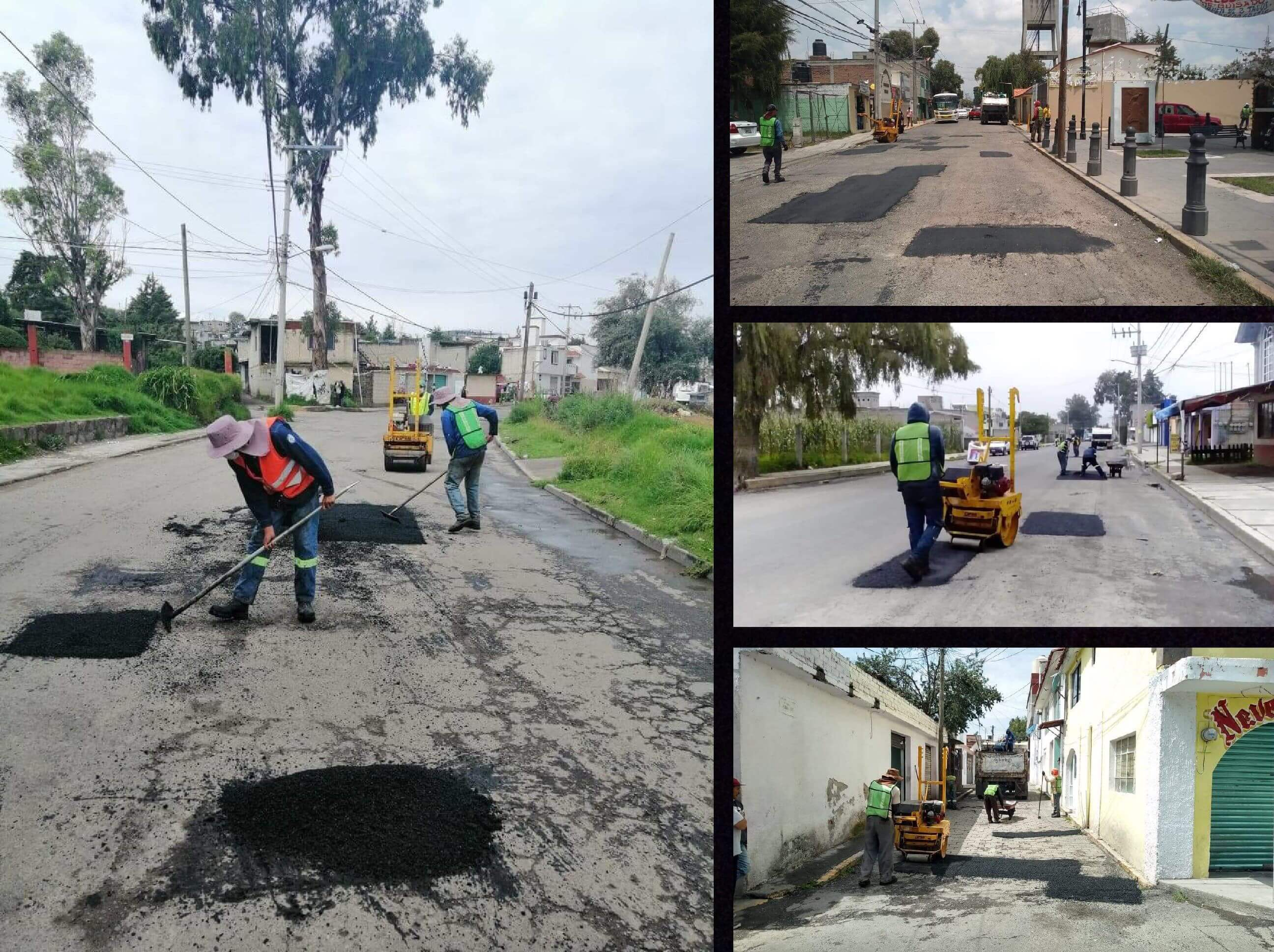 Reporta Toluca bacheo en calles y vialidades