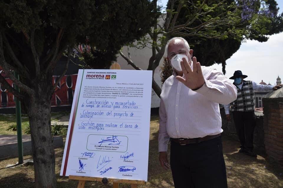 """Retoma """"te lo firmo y te lo cumplo"""" como campaña en Toluca"""