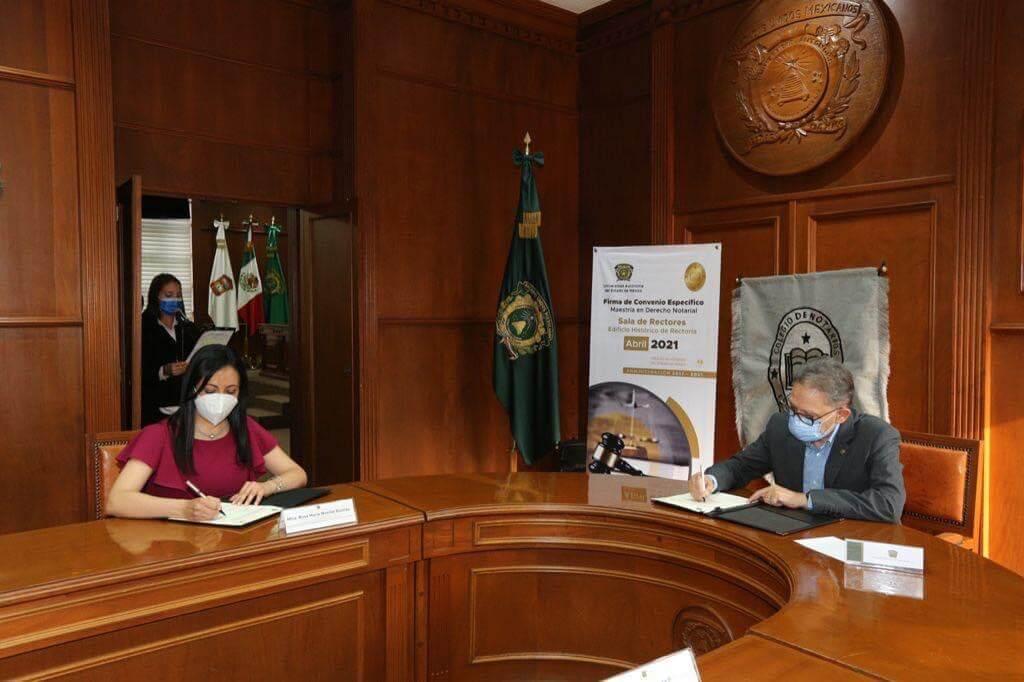 UAEM y Colegio de Notarios suman esfuerzos por educación virtual